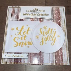✨NEW✨Holiday Winter Platter Plate-wear Set